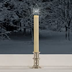 hassle free decorating theres no need to run around the house turning on your holiday candles as soon as the sun goes down these adjustable height led - Christmas Candles For Windows