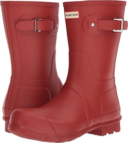 HUNTER Mens Original Short Rain Boots Military Red 7 M
