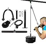 Equipo de polea de cable de aptitud funcional, ejercicios de fuerza de brazo con sistema de polea de trabajo pesado, para tirones Lat, rizos de bíceps, extensiones de tríceps entrenamiento de ejercici