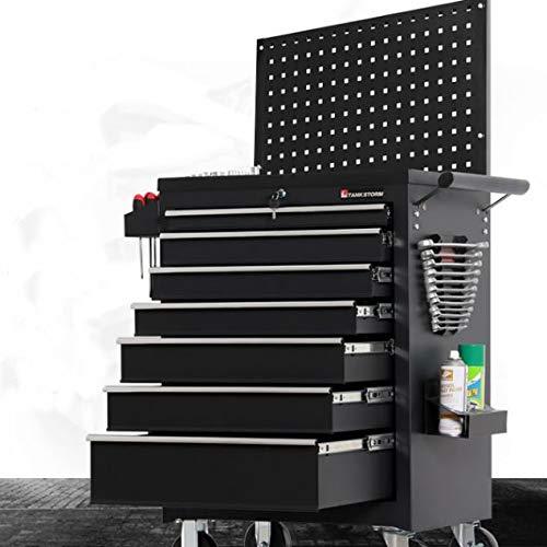 Schubladen Werkstatt | abschließbar | auf Rädern - Aftermarket-Autopflege-Werkzeuge Auto Schwere Mobilwerkzeugschrank Schublade Typ Auto-Reparatur-Tools Kit (Color : Black)