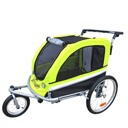 Booyah Large Pet Bike Trailer Dog Stroller & Jogger with Shocks Non...