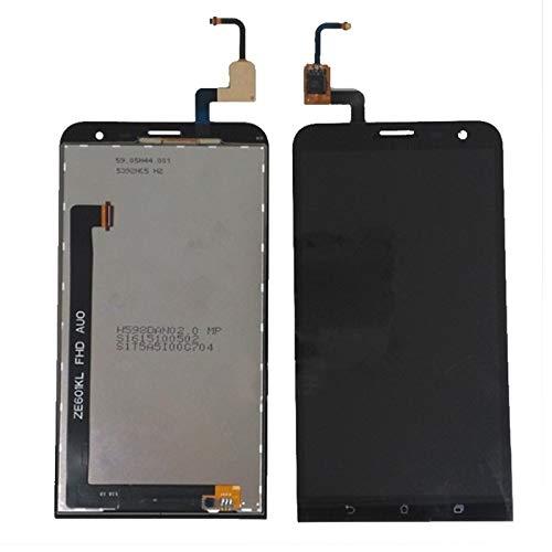 Pantallas LCD para teléfonos móviles 6.0 '' Pantalla LCD LCD Pantalla táctil Digitalizador Reemplazo de ensamblaje LCD/Ajuste para ASUS ZENFONE 2 Laser ZE601KL (Color : ZE601KL Black)
