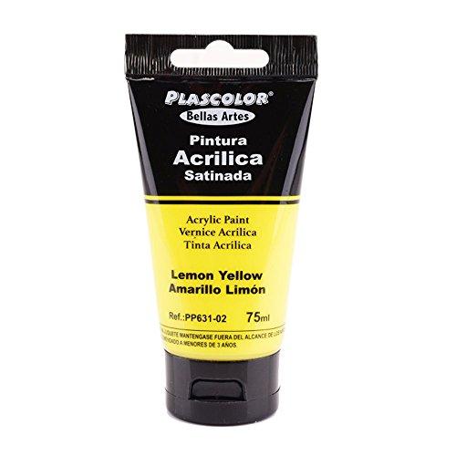 Plascolor PP631-02 - Pintura acrílica, 75 ml, color amarillo limón