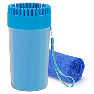 CHOOSEEN Dog Cleaner Upgrade 2 in 1 Dog Paw Cleaner Dog Brush Dog Grooming Dog Cleaning Paw Cleaner Portable Dog Foot Washer for Dog Cat from Chooseen