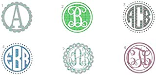 Kate KLC Lilly Pulitzer Monogram Decal - Lilly Pulitzer Vinyl Decal - Monogram Decal - Computer Decal - Car Decal - Yeti Decal - Ipad and Cell Phone Decal and Stick