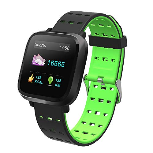 Reloj inteligente con podómetro y monitor de actividad, monitor de sueño, pulsómetro, reloj deportivo para mujer, hombre, impermeable, IP67, reloj de cardio para Android iOS