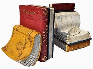 WYYAF Bokstöd halkfria bokstöd för tunga böcker kreativa europeiska vintage brittisk vind harts bokstöd present till barn ...