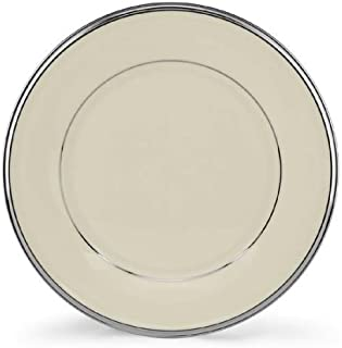 Lenox Solitaire Platinum Banded Ivory China Salad Plate by Lenox