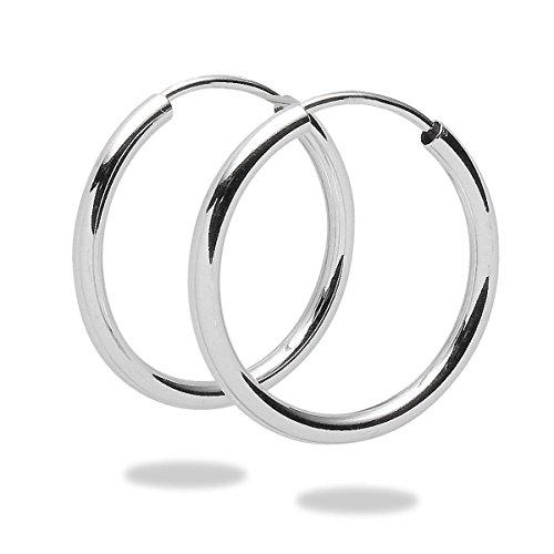 Rafaela Donata - Orecchini ad anello, Argento Sterling 925, Taglia unica