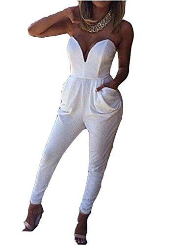 Kombinezon damski długi – elegancki kombinezon dla panny młodej lub na ceremonie – na wieczór, nowoczesny strój dyskotekowy, modny strój na wieczór lub na imprezę