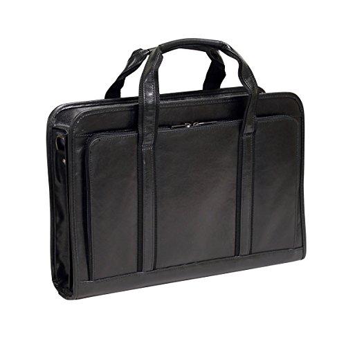 Bellino Simple Leather Executive Soft Briefcase Bag, Black