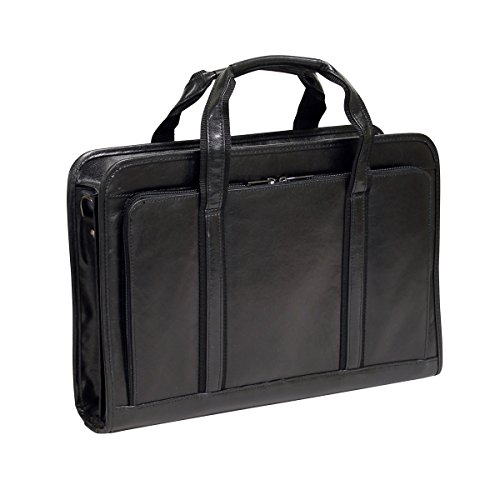 Bellino Simple Leather Executive Soft Briefcase Bag, Black