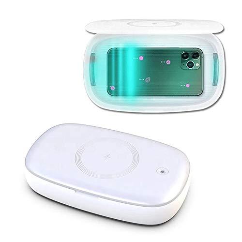 JINRU Tragbare UV-Sterilisator, Tötungs 99% Der Keime, Viren Und Bakterien in 59 Sekunden, Drahtlose Lade UV Box