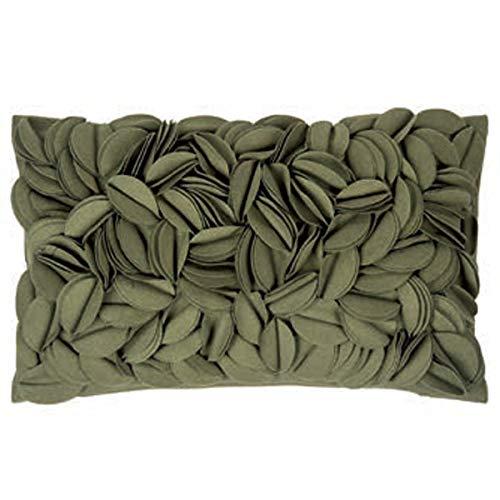 pad - Kissenhülle - Kissenbezug, Kissen - Zierkisssen - Dorothy - Applikationen - Dark Green, Grün - 30 x 50 cm