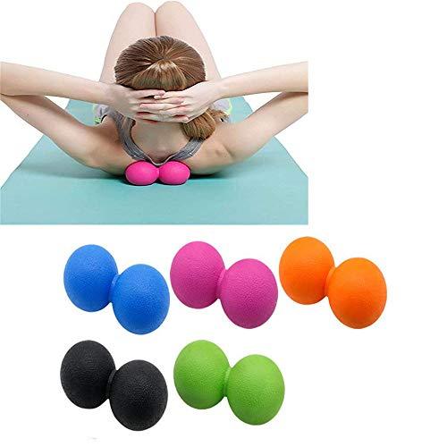 WXH 5 STÜCKE Yoga Massage Ball Lacrosse Trigger Point Therapie, Muskelknoten und Yoga Therapie, Myofascial Release, Faszien Release, Massage Balls for Foot,B