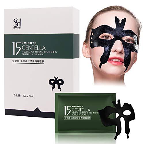 Mascara Para Los Ojos, Parches Ojos, Eye Mask, Mascarilla Hidratante para Ojos, Antiarrugas, Eliminación de Bolsas y Ojeras, 10 piezas
