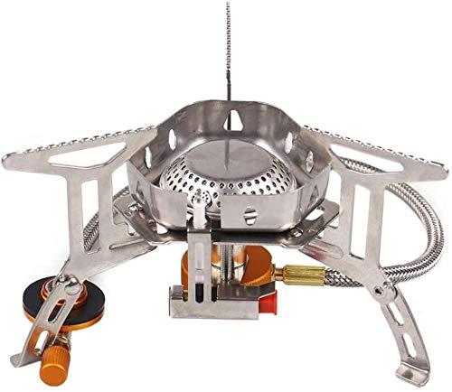 DUDDP Gas Adaptador Estufa de camping estufa a prueba de viento a prueba de viento de acero inoxidable de acero inoxidable estufa de picnic portátil estufa de gas portátil al aire libre estufa de camp