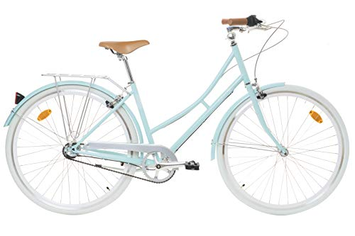 "Fabric City Bicicleta de Paseo- Bicicleta de Mujer 28"", Cambio Interno Shimano 3V, 5 Colores, 14kg (Blue Hampstead, 45)"