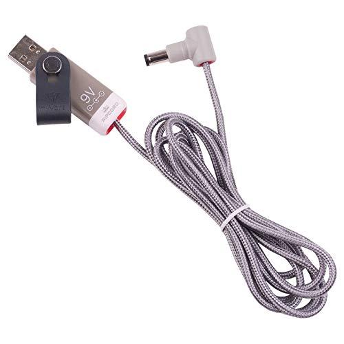 MyVolts Ripcord-USB-Ladekabel mit 9V DC Ausgangsstecker kompatibel mit TC Electronic Ditto X2 Looper Effektpedal