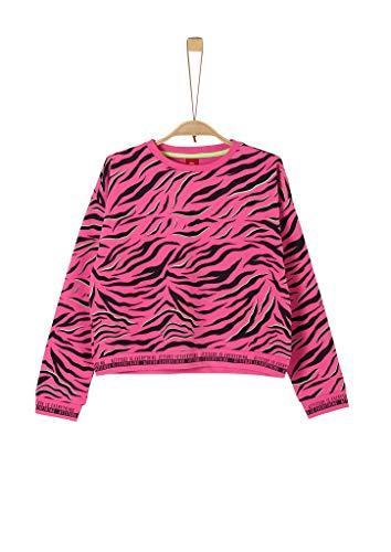s.Oliver Junior 401.10.002.14.140.2022574 Sweatshirt, Mädchen, Rosa M REG