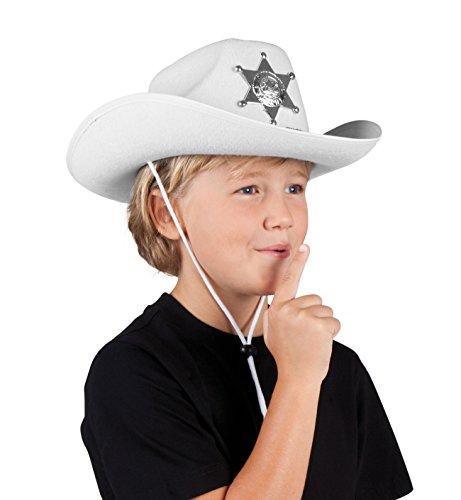 Boland 04114 - sombrero de los niños Sheriff Junior, un tamaño, color blanco