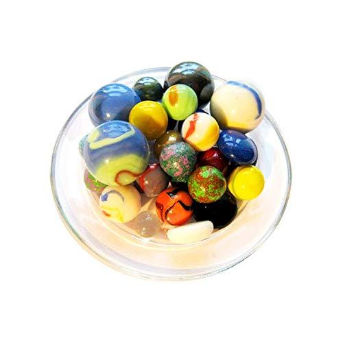 mesbilles MeineMurmeln - 50 PorzellanMurmeln GlasMurmeln und TonMurmeln in verschiedenen Größen