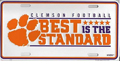 Clemson Tigers Best Is The Standard Metal License Plate
