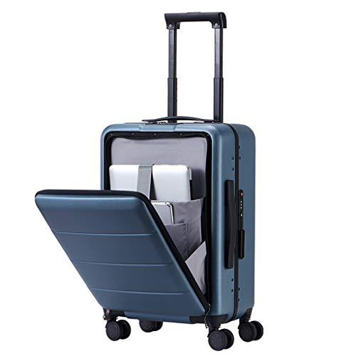 Laptoptas met wielen, voor mannen en vrouwen, business, reizen, open koffer, trolley, universeel, vliegtuig