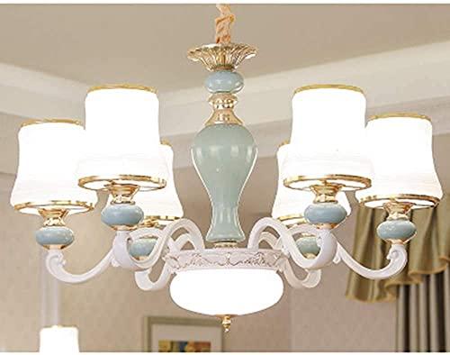 TAIDENG Luz de Techo Lámpara de la Sala de Estar Moderna Estilo Europeo Chandeliers Sala de Estar Comedor Dormitorio Luces lámparas de aleación de Zinc (Size : 6lights(70 * 50cm))
