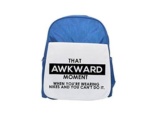 That Awkward Moment cuando te llevaras Nikes y You Can T do it::: 2907impreso Kid 's azul mochila, para mochilas, cute small Mochilas, cute negro mochila, Cool mochila negra, moda mochilas,