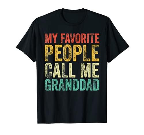 Mi gente favorita me llama abuelo Vintage abuelo papá Camiseta