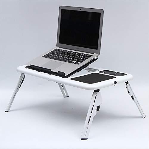 Opvouwbare PC PAD Laptop Stand Verstelbare Ergonomische Laptop Tafel Bureau Computer Tafel Stand Ontbijt Bed Slaapbank lade Boekhouder met Koeling Ventilator/Muis Board/USB Poorten