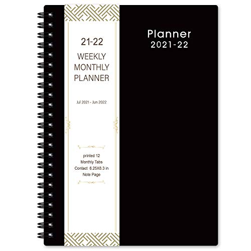 Planner 2021-2022 - Weekly & Monthly Academic Planner form July. 2021 to June. 2022, 6.25 in × 8.3 in - Classic Black, Improving Your Time Management Skill