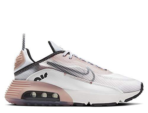 Nike W Air MAX 2090, Zapatillas para Correr Mujer, Summit White Black Champagne Football Grey, 38 EU