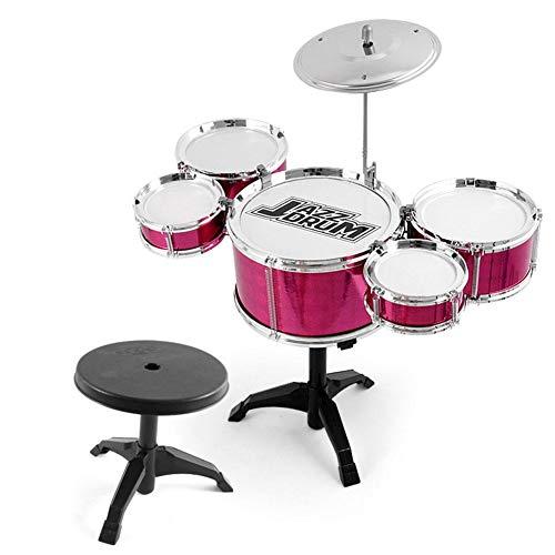 Schlagzeug Kinder Musik Instrumente Spielzeug Mit Hocker,Jazz Schlagzeug Schlaginstrument Set,Früherziehung Puzzle Für Kinder Über 3 Jahre Alt