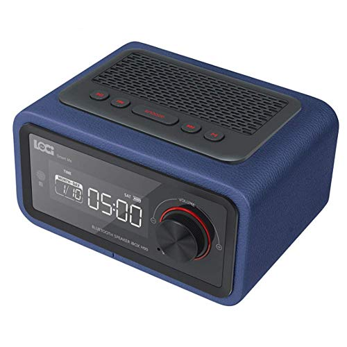 XYSQWZ Multifunktionslautsprecher Wecker Led-anzeige Multimedia-Karte Smart Radio Mini Elektronischer Desktop Bluetooth Digital Radio Home Orange Tragbare Lautsprecher Docks