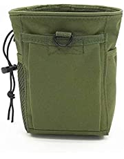Coollooda Foldable Drop Leg Bag Waist Pack for Outdoor Hiking Cycling Running Belt Dump Pouch Military Fanny Hip Packs woodland Mesh Water Bottle Bag Drawstring Attachment Pouch Black