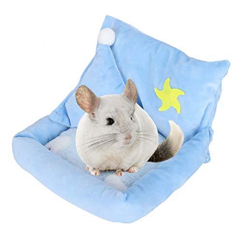 Hinzonek Wärmende Hamsterbetten Sofa Selbstwärmende Schlafkissencouch für Meerschweinchenfrettchenratte Herbst Winter Indoor Snooze Schlafen Gemütliches Ruhebett
