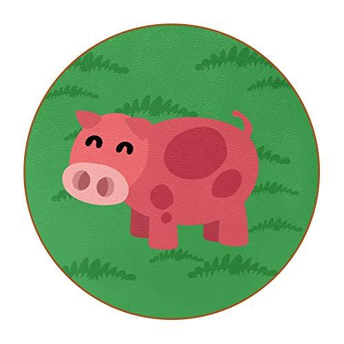 6 posavasos con imagen y texto personalizables para inauguración de la casa, regalos de anfitriona, registro de boda, decoración de habitación, cerdo verde