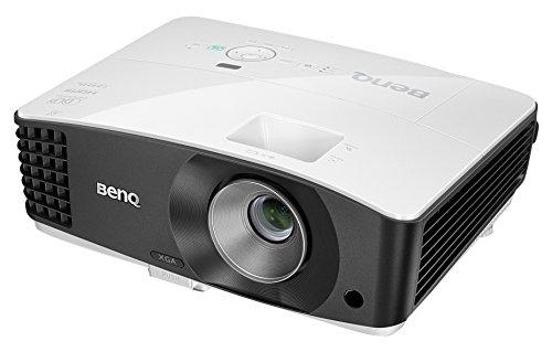 BenQ MX704 Proiettore DLP, XGA 1024 x 768, Luminosità 4000 ANSI Lumen, Contrasto 13.000:1, 2 x HDMI 1.4a, Correzzione Trapezio Verticale e Orizzontale, Bianco/Nero [Vecchio Modello]