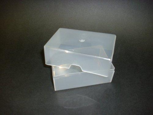 Pack de 50cajas de plástico transparente tarjeta de visita/Craft–100mm x 65mm x 36mm)
