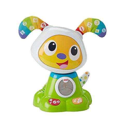 Fisher-Price Bebo le Chien Robot Interactif, Jouet Sons et Lumières pour Apprendre à Lire et à Écrire à Bébé, 9 Mois et...