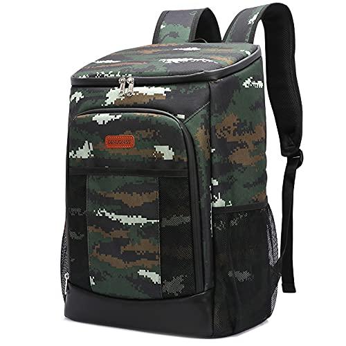 asx Bolsa de pícnic de la selva para acampar, bolsa de refrigeración, suave, 100% impermeable, térmica, bolsa de picnic isotérmica, bolsa fresca, bolsa de picnic de playa (color verde camuflaje)