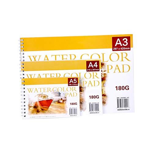 SHIFWE - Cuaderno de bocetos de acuarela de 180 g, 24 páginas, A4, A5, A3, cuadernos creativos, diarios, anime, lista de cuadernos, cuadernos escolares, suministros de oficina, papelería