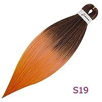 """編組の毛の編み物の毛のかぎ針編みの毛延長容易な総合的な20""""26""""低温繊維、S19、26Inches、1Pcs / Lot"""