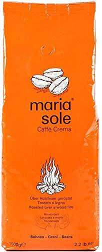 MariaSole Caffè Crema I Premium Kaffeebohnen aus Italien 1kg I säurearm I ganze Bohnen 1000g