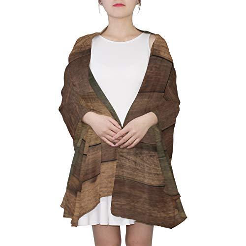 WYYWCY Alter Grunge-dunkler strukturierter hölzerner einzigartiger Mode-Schal für Frauen-leichte Mode-Herbst-Winter-Druck-Schal-Schal wickelt Geschenke für Vorfrühling ein