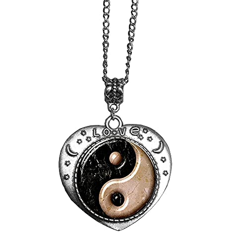 Yin Yang Collar colgante, regalo perfecto, collar para él, símbolo de equilibrio Yinyang yingyang Tai Chi Kung Fu, joyería deportiva, N139