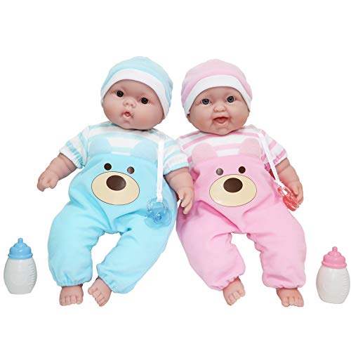 """Twins 13"""" Realistic Soft Body Baby Dolls 