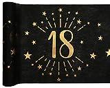 Santex 6787-18-30, runner da tavola con motivo a stelle in metallo, 18 anni, colore: nero/oro